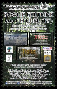 Leaves of Feltre trees with Mayan Enerygy / Foglie Feltrine con Ch'ulel..
