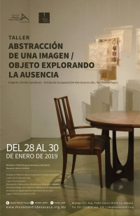 Exploring the absence / Objeto explorando la ausencia