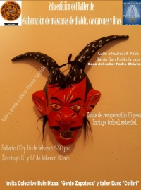Decoration of Devil Masks.. / Elaboraion de mascaras de diablo..