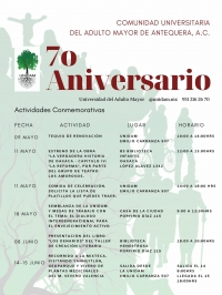 Activities marking the 70th Anniversary of / 70 Aniversario de UNIDAM