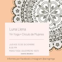 Luna Llena- Yin Yoga   Círculo de Mujere