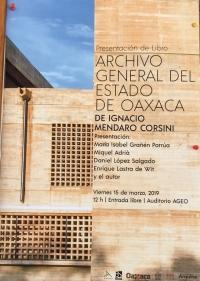 Book presentation by Ignacio Mendaro Corsini/ Libro