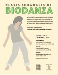Biodanza, clases semanales (weekly class)