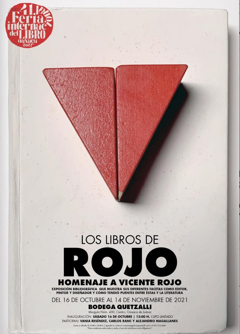 Inauguration of Los libros de rojo: Homenaje a Vincente Rojo