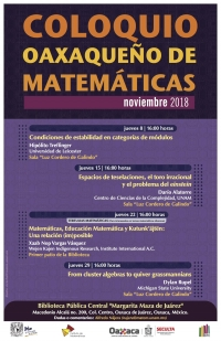 Oaxaqueno Colloquium of Mathematics/Coloquio Oaxaqueno de matematicas