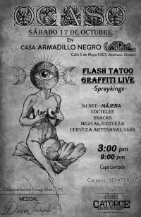 Ocaso Flash Tatoo, Graffiti Live Spraykings