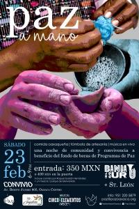 "Community Scholarship Fundraiser/ Beneficio para ""Paz a Mano"""