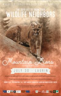 Summer Wildlife Speaker Series: Mountain Lions