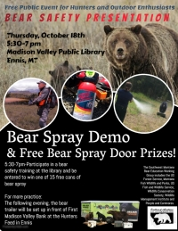Bear Safety Presentation/Bear Spray Giveaway