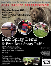 Bear Safety Presentation and Bear Spray Giveaway!