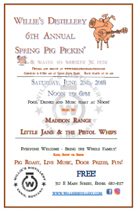 Willie's Distillery 6th Annual Spring Pig Pickin'