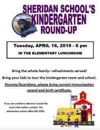 Sheridan School's Kindergarten Roundup