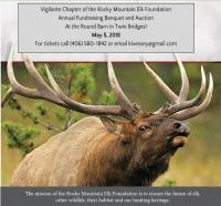 Rocky Mountain Elk Foundation Banquet