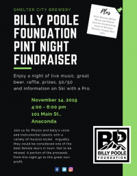 Billy Poole Foundation Pint Night