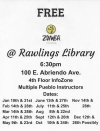 FREE ZUMBA Class @ Rawlings Library