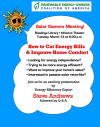 REOCA Solar Owners Coalition Meeting