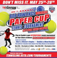 39th annual BOB RAWLINGS MEMORIAL Paper Cup tennis tournament