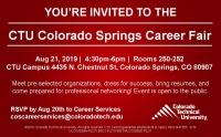 CTU Career Fair on Wed, Aug 21st