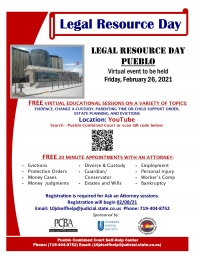 Virtual Legal Resource Day Event - 2021
