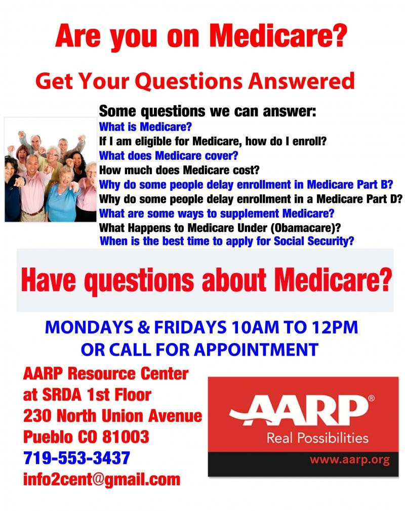 questions about medicare? 08/03/2018 pueblo, colorado, medicare help