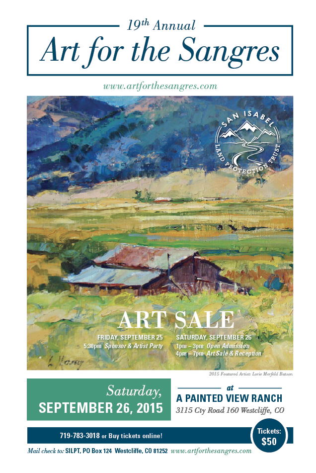 Art For The Sangres 09 26 2015 Westcliffe Colorado A Painted View Ranch