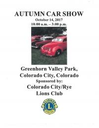 Colorado City/Rye Lions Club Autumn Car Show