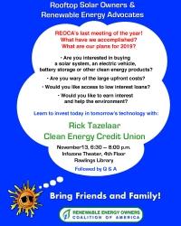Solar Owners & Renewable Energy Advocates Meeting