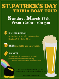 St. Patrick's Day Trivia Boat Tour