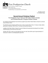 Second Annual Christmas Festival
