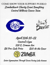ZUMBATHON for Central's Dance Team