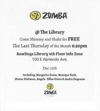 FREE ZUMBA CLASS @ RAWLINGS