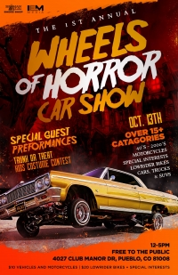 Wheels of Horror Car show and Trunk or Treat