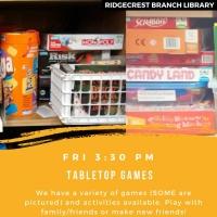 Fun Friday: Tabletop Games