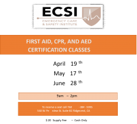 First Aid, CPR, AED Workshop