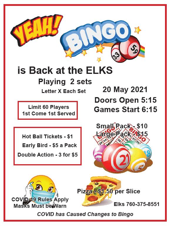 Elks Bingo