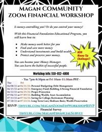 Free Community Financial Literacy Workshop on Zoom