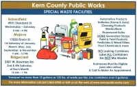 Kern County Public Works Special Waste Days