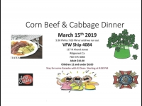 Corn beef and Cabbage Dinner