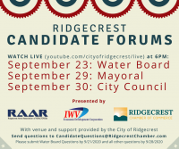 Water Board Candidate Forum