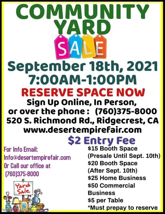 Desert Empire Fairgrounds Community Yard Sale