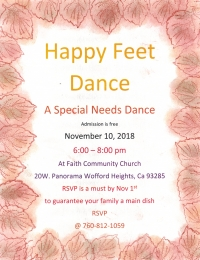 Special Needs Dance-Nov 2 RSVP