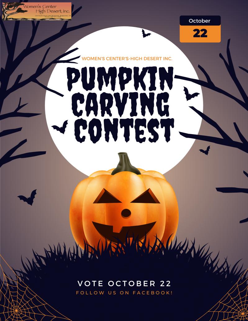 Women's Center - High Desert Pumpkin Carving Contest