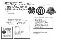 Ridgerunners 4H Fall Equine Festival & Horse Show