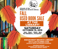 Fall Used Book Sale to benefit Ridgecrest Branch Library