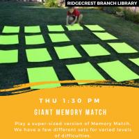 Giant Memory Match