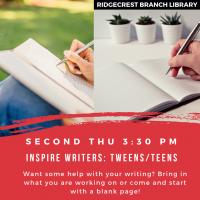 Inspire Writers Tweens/Teens