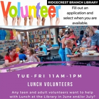 Lunch at the Library *Volunteers Needed*