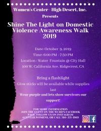 Shine the Light on Domestic Violence Awareness Walk 2019