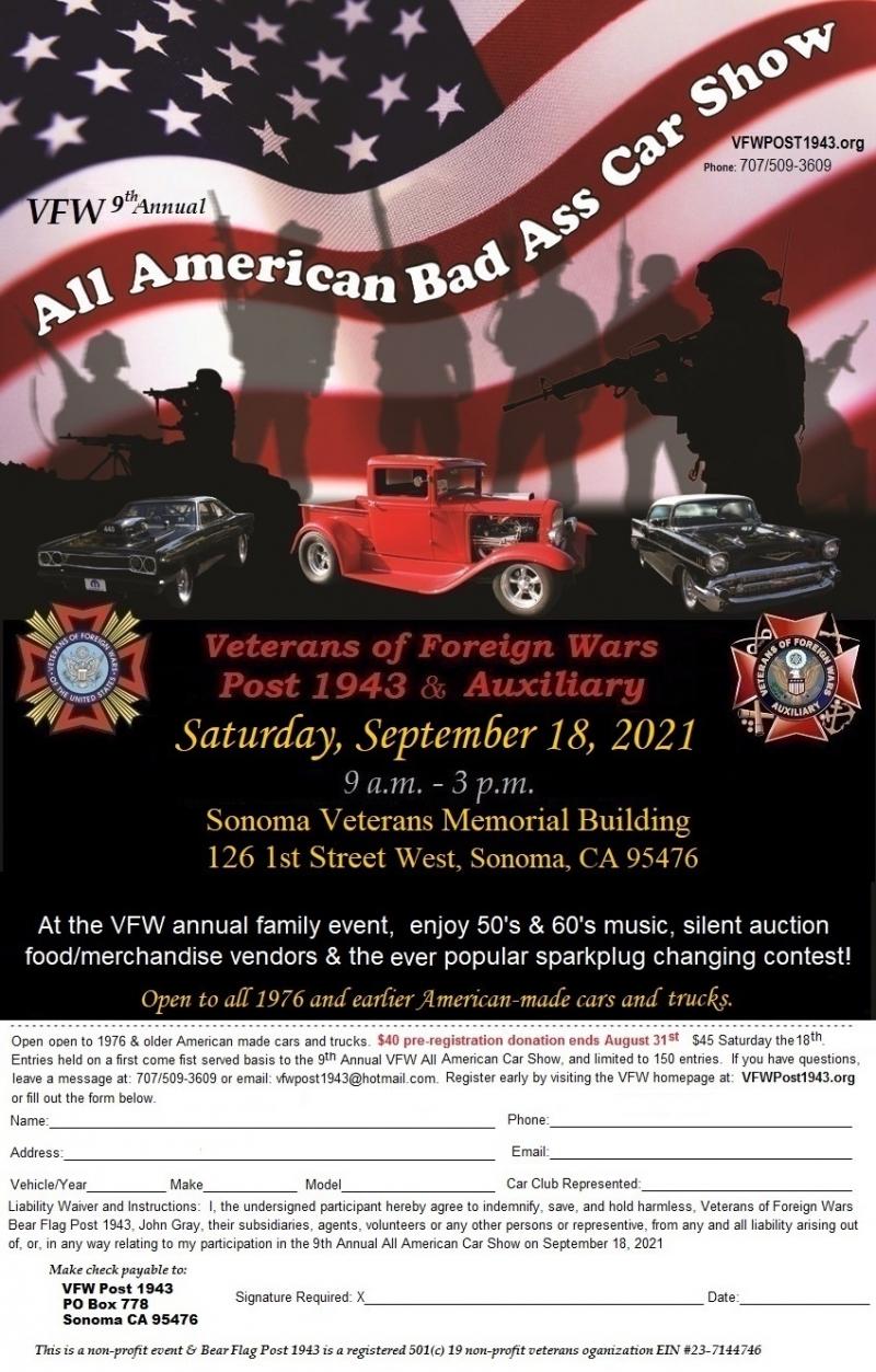 VFW 9th Annual All American Bad Ass Car Show