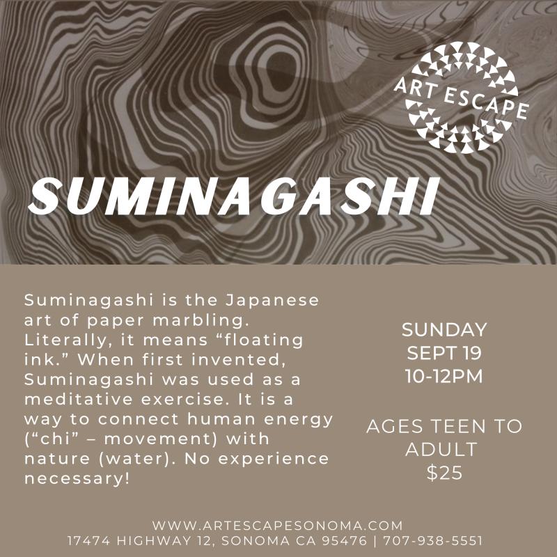 Suminagashi Art Class